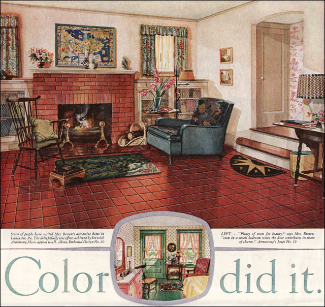 1928 Armstrong Linoleum  Ladies Home Journal  One of the