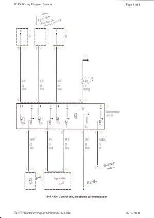 EWS 3 Engine Immobiliser wiring diagram | Tim Brierley