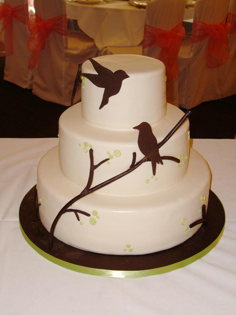 Bird Silhouette Wedding Cake  Wedding cake inspired by the   Flickr