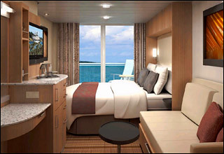 Celebrity Solstice Aqua Class Cabin  Same in size as a