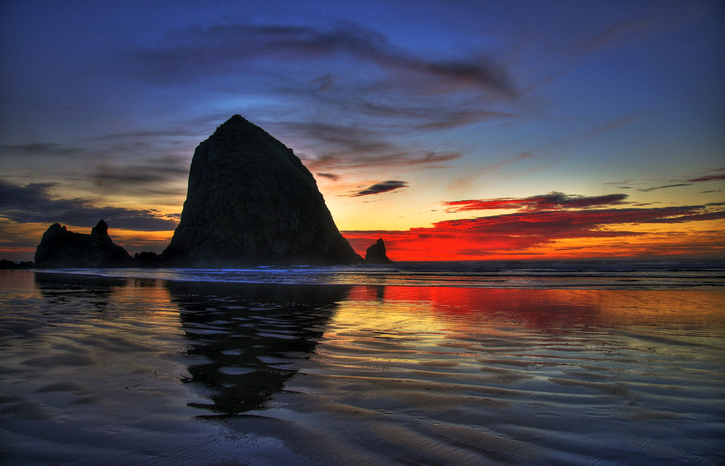 Haystack Rock Sunset  Andrew Lachance  Flickr