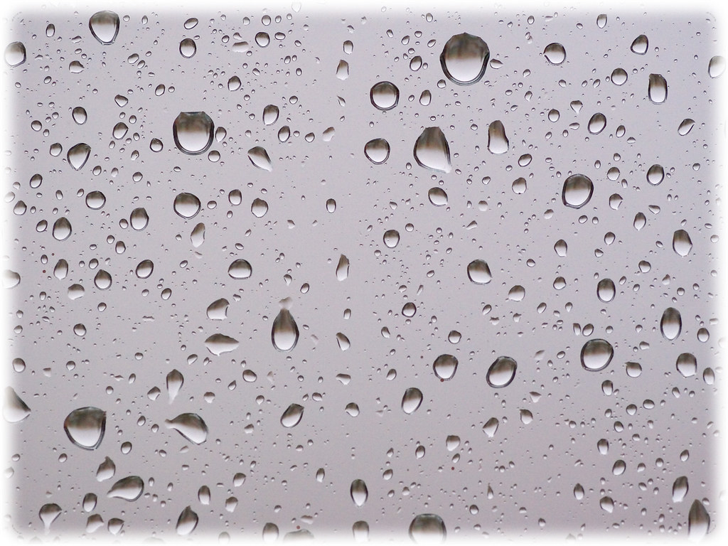 3d Wallpaper With White Background Window With Raindrops Free Wallpaper Window With