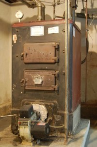 Old Oil Furnace | Our old oil furnace. Before its removal ...