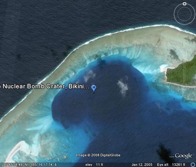 CastleBravo  This is the crater in thje ocean floor left