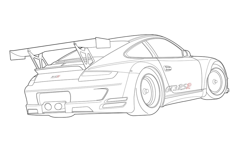 63 EASY TUTORIAL HOW TO DRAW A PORSCHE 911 CARRERA STEP BY
