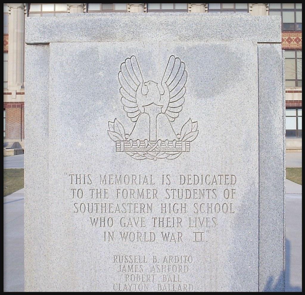 Detail World War Ii Memorial At Southeastern High School