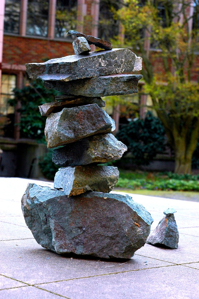 Abstract Art Cairn Ahu Rock Stack Inuksuk Temple Of The