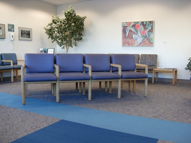 Empty Waiting Room  At the Kaiser Skyline Building No