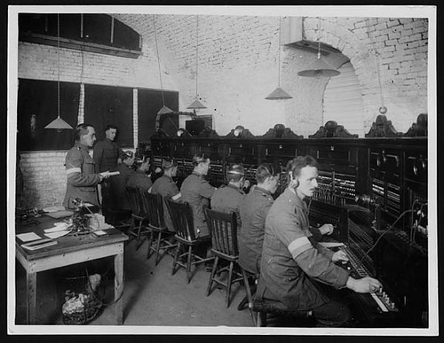 Signallers working at the headquarters of RESS in Fran  Flickr