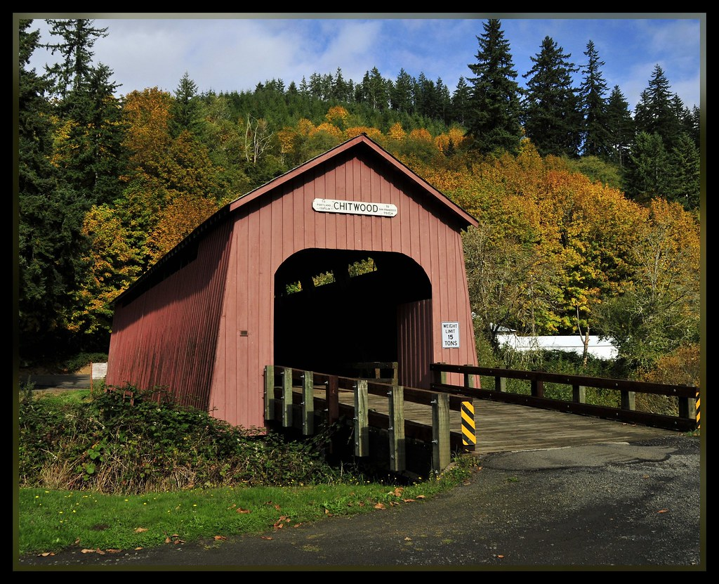 Chitwood Covered Bridge 1 of 2 Set  Crossing the