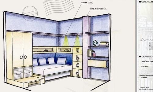 Contoh Sketsa Interior Kamar Anak Proses Desain Interior   Flickr