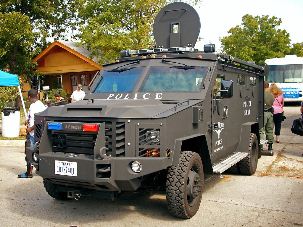 Armored Police Swat Vehicle Handley Street Fair An
