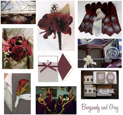Wedding Wednesday Burgundy Maroon Grey and Silver  Flickr