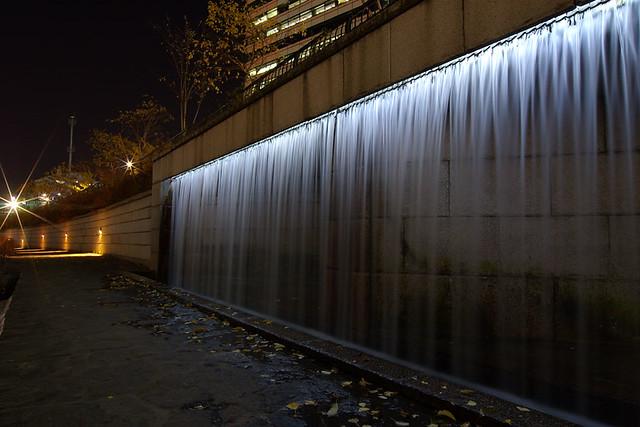 Cheonggyecheon waterfall wall  Sang Yoon Lee  Flickr