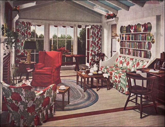 1948 Mid Century Traditional Living Room