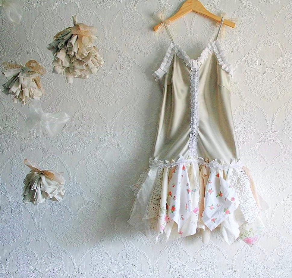 Shabby Chic Slip Dress Upcycled Fairy Tattered Toddler Gir  Flickr
