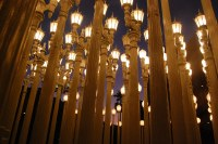 a forest | of lamp posts at the lacma. more about it here ...