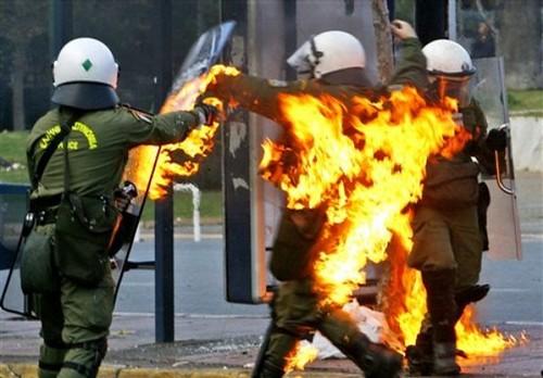 APTOPIX GREECE RIOTS athens riot dec  Riot police attempt t  Flickr