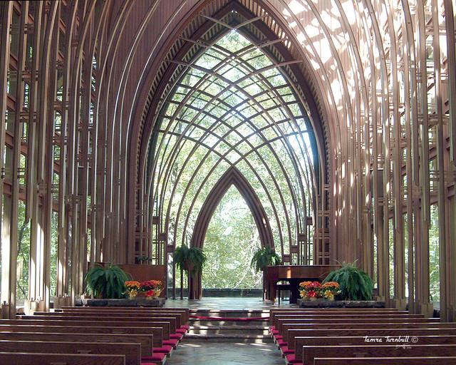 Glass Church Mildred B Cooper Memorial Chapel In Bella