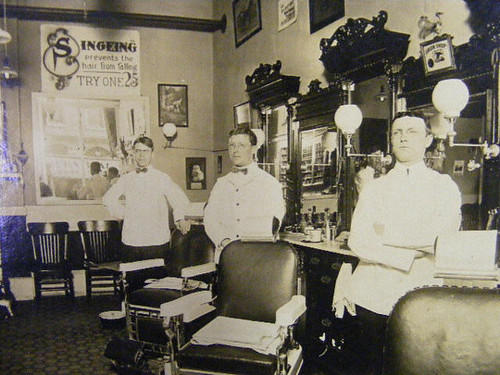 Barber shop 1900s  gaswizard  Flickr