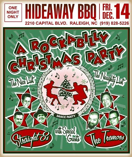 Rockabilly Christmas Party Poster Flickr Photo Sharing