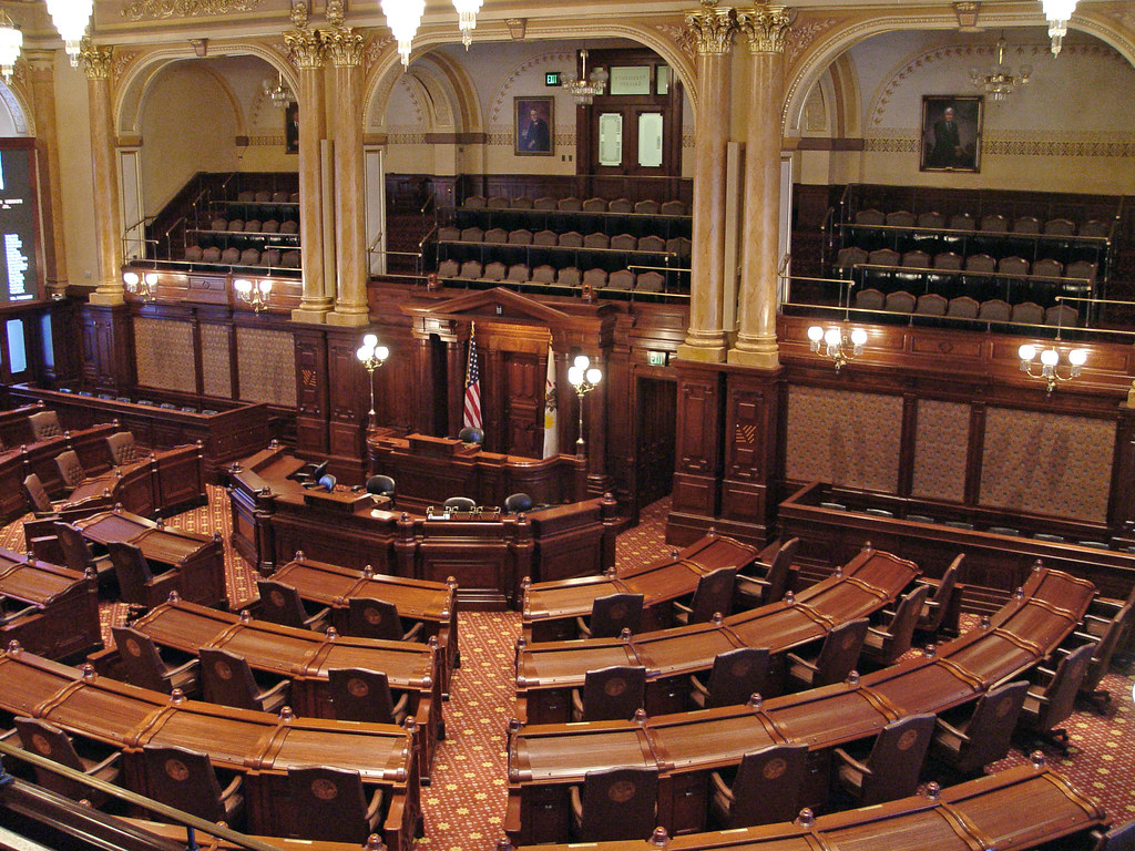 Springfield  Senate Chamber Illinois State Capitol Build