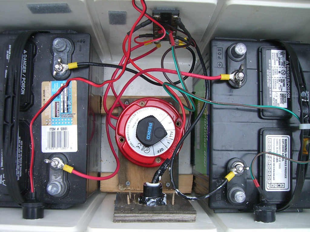 marine dual battery switch wiring diagram power antenna relay bank in a cooler two 12 volt batteries