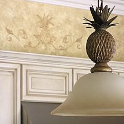 Kitchen Hood Modern Pulls Pineapple Motif To Accompany Light Fixture | The ...