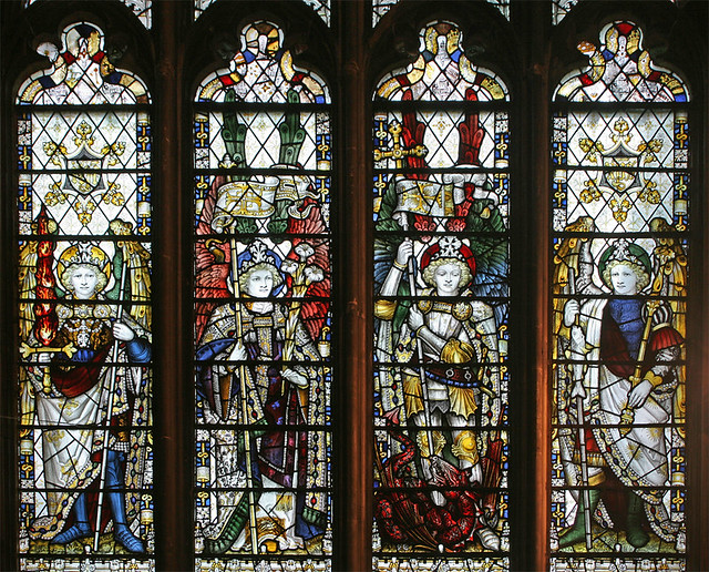 Archangels Canterbury Cathedral  Stained glass in the
