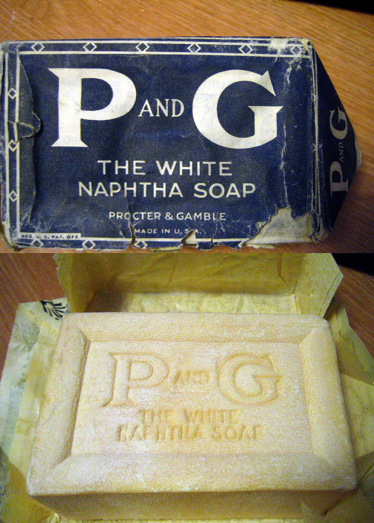 PG White Naphtha Soap 1930s  A thrift store was