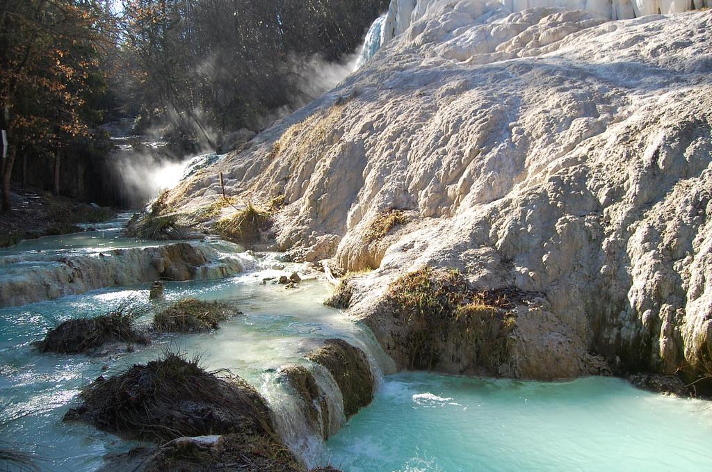 Bagni San Filippo SI  le sorgenti calde del Fosso Bianc