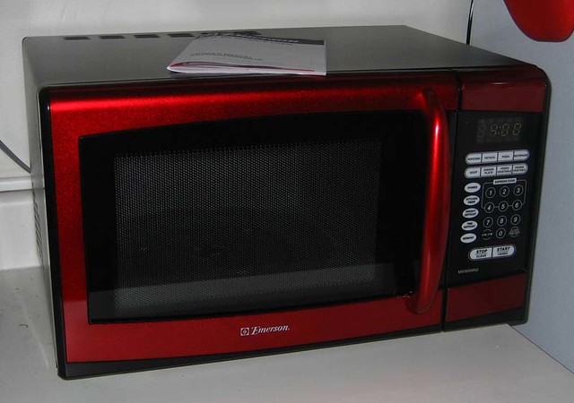 red kitchen aid mixer unfinished cabinets microwave | i have a mixer, toaster ...