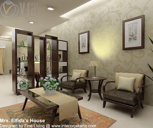 Desain Ruang Tamu  Desain ruang tamu yang simple namun