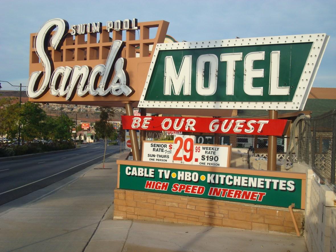 Sands Motel - 581 East Saint George Boulevard, Saint George, Utah U.S.A. - October 18, 2008