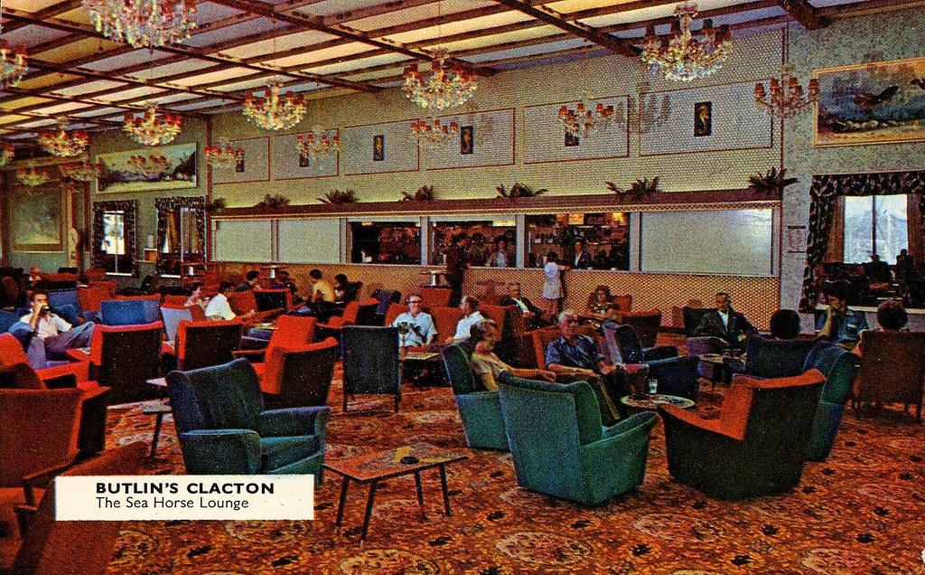 Butlins Clacton  Sea Horse Lounge postcard 1960s  Flickr