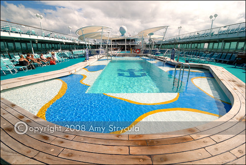 Majesty of the Seas Pool  The pool deck on Royal