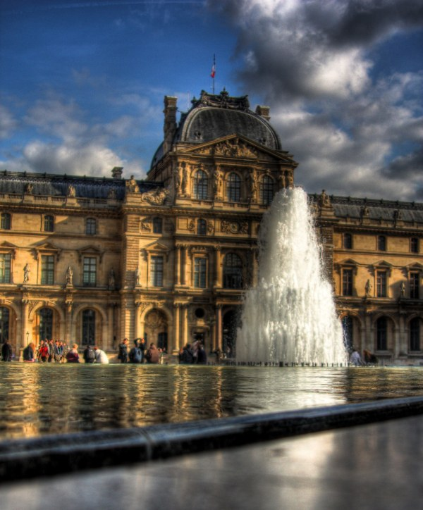 Louvre Court-yard Fountain Overlooking In