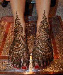 Bridal Henna Feet Indian Sumeyya Of