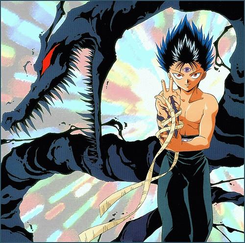3d Dragon Eye Wallpaper Hiei Chamas Negras Fazendo Suas Chamas Negras Mortais