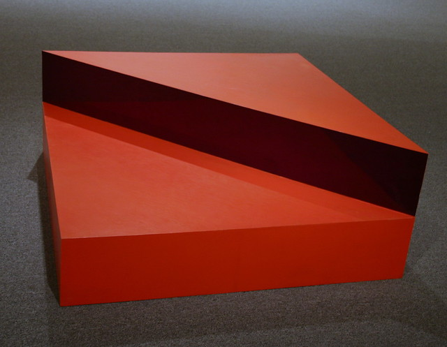 Untitled 1963 oil on wood with Plexiglas by Donald Judd