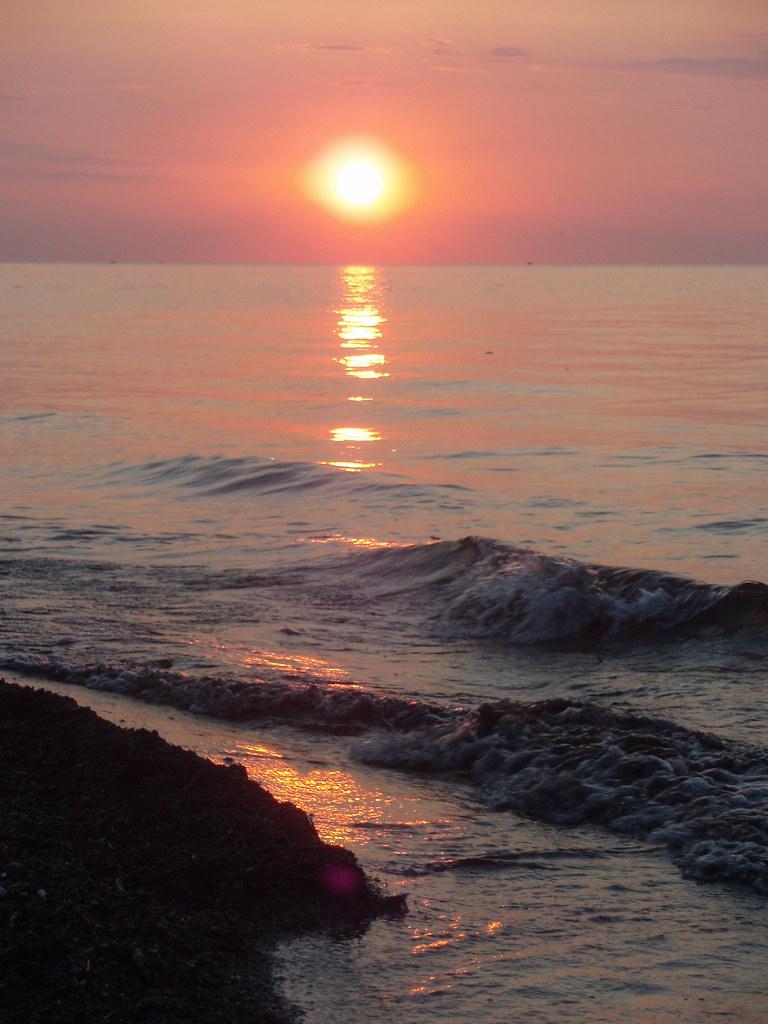 Lake Erie Sunset June 20 2008  Sunset over Lake Erie