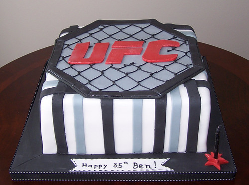 UFC Birthday Cake  Flickr  Photo Sharing