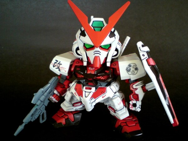 SD Gundam Astray Red Frame I used red sharpie pen