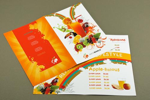 Juice Bar Menu  Juice Bar Menu design template by Jenna