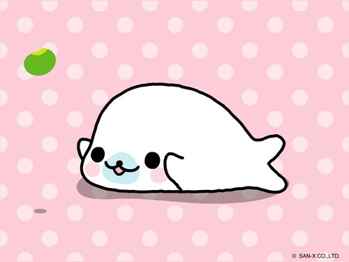 Cute Cartoon Seal Wallpaper Mamegoma Wallpaper Happy Little Mamegoma Wallpaper