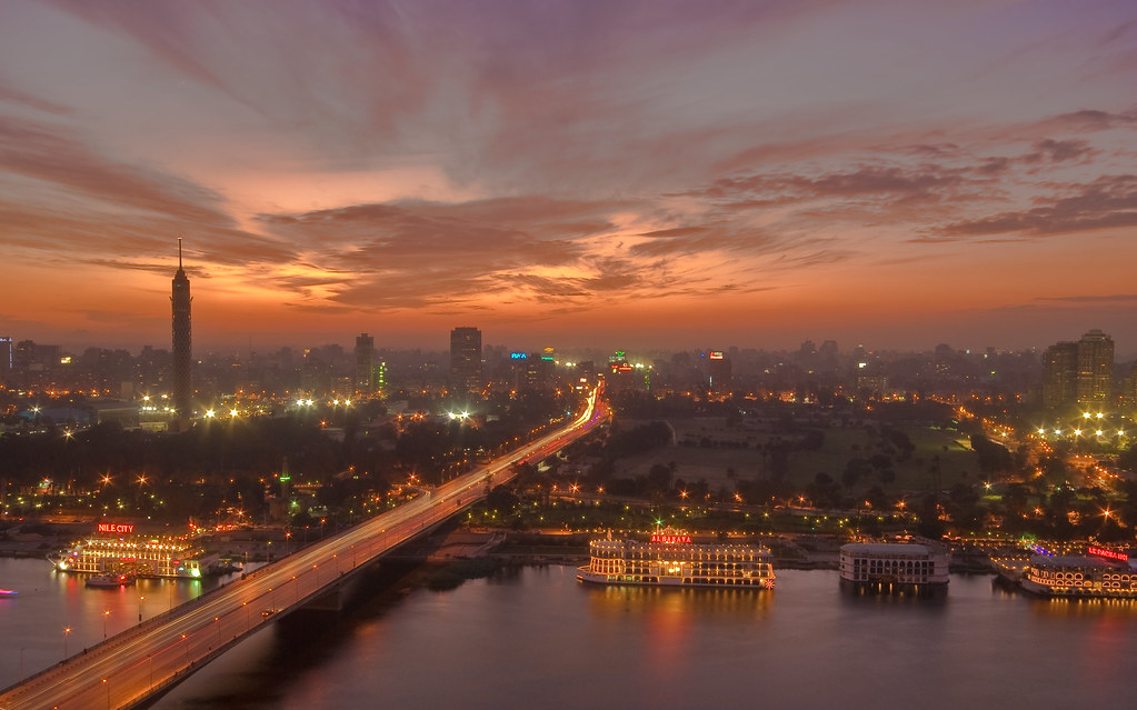 Hd Video Camera Wallpaper Cairo Sunset Looking West From The Ramses Hilton