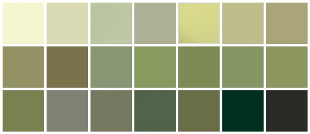 Farrow  Ball Paint Green Colors  Top row left to right