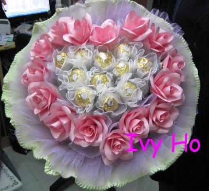心型11枝金莎花+15枝紙雕玫瑰花NO:8020 hoivyii@yahoo.com.hk TEL:61930619… | Flickr