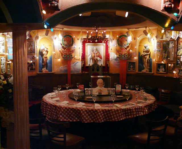 Buca di Beppos Pope Room  I was at Bucas for the first
