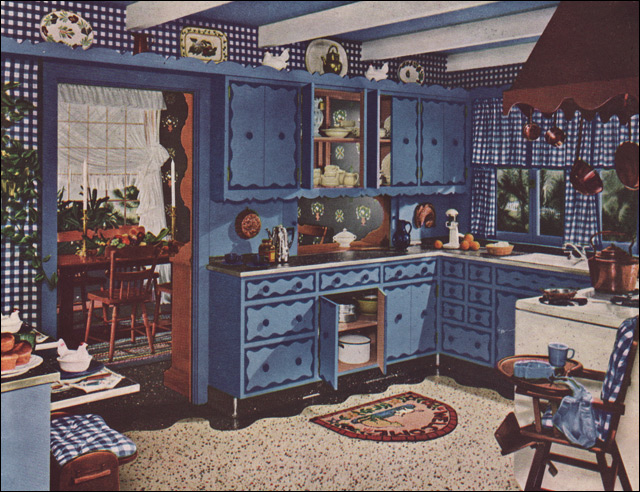 1949 Armstrong Colonial Kitchen  1949 was a big year for